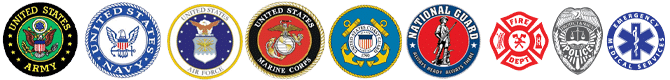 Active and retired military and first responders